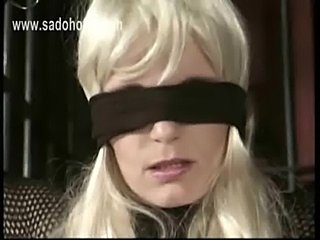 Beautiful blond slave with her hands tied in dungeon gets cl free