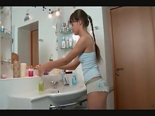 Cute slim russian girl fucked in the bathroom