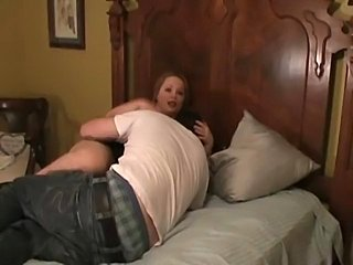 BBW fucks lover in front of cuckold hubby. She Humiliates him and makes him...