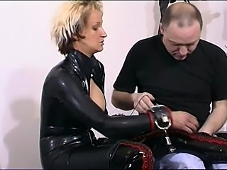 Kinky slut in latex have a nice boot cuddle by herslave...