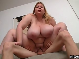 Guy picks up busty BBW and bangs her