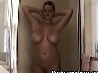 Heather in shower
