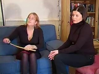 Young girl spanked and caned