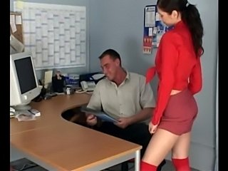 Petite secretary fucking in knee high stockings  free