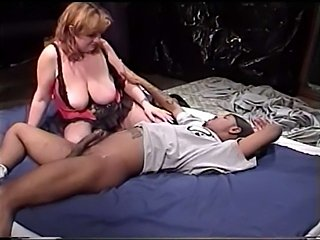 Fat slut in sexy dress seduces and fucks hot black dude