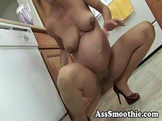 Ass smoothie- nancy vee pregnant pb  free