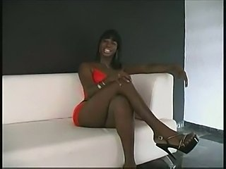 Ebony shemale fucking with two randy teens