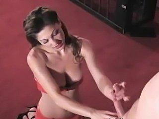 Lili the Femdom Mistress Handjob