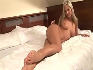 Hot blonde on the bed  free