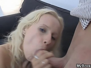 She gives her pussy to her BF's bro