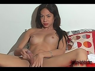 Slim ladyboy with beautiful hard cock