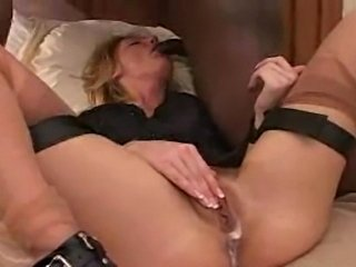 My wife the slut is getting fucked hard by a big black dick, well she seems like she enjoyed it