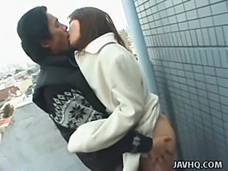 Hot japanese teen exhibs and gets fucked outdoor  free