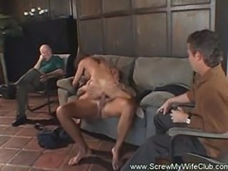 Gorgeous wife gone wild on a huge cock