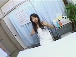 Japanese fingered on massage table