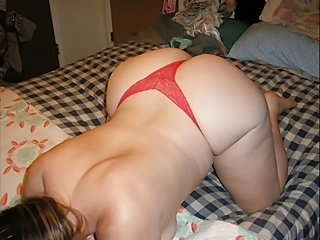 Matures in thong