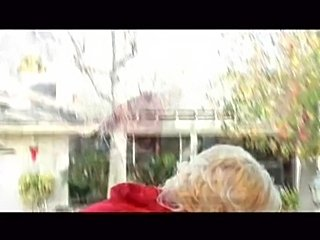 Blonde in Little red riding hood costume, goes into house full of black guys.  Takes on 2 of them in this scene.  Anal.