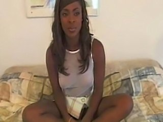 Young Midori doing her debut in Up and Cummers 35 withRandy West.