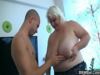 Enormous busty bbw is doggystyle fucked  free