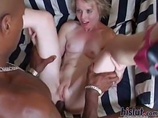 This slut did not have much experience with black men