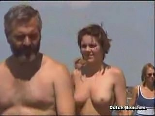 Zandvoort Dutch Beach Topless Nudist Titties 1-2