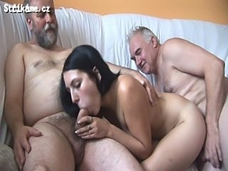 Strikame.cz - 6 old men vs young hottie  free