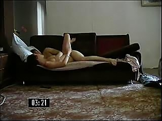 Dirty son fucks his sexy aunt on the floor of the living room