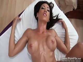 Capri cavalli is back for another massage. part 4  free