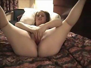 Horny BBW Ex Girlfriend masturbating in a Hotel Room