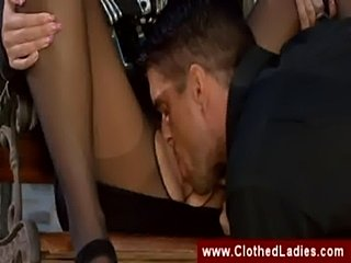 Oral sex with a smoking blonde  free