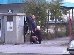 Hooker Blowing in Public
