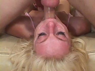 Really messy face after throat fucking