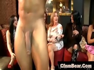 Cfnm hotties suck stripper cock at cfnm club  free