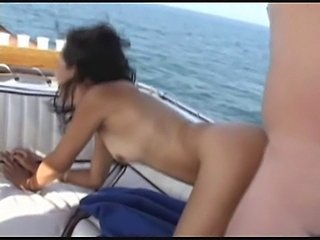 Fucking and sucking on his boat