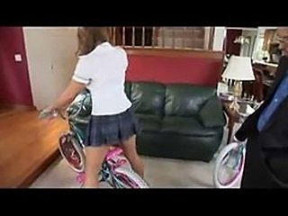 babysitter gets a bike