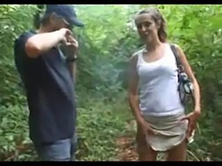 Old guy sucked by a milf in a forest  free