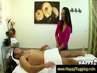 Asian masseuse feels under the towel  free
