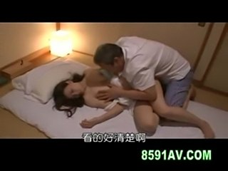 Busty wife creampie fucked by old man  free