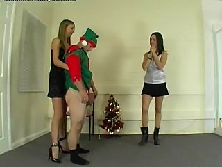 Santa's little helper is going to get his balls kicked!