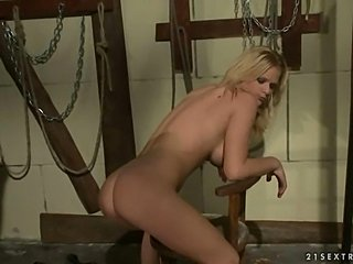 Mistress punishing sexy blonde