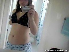 Teen Removes Bikini Top