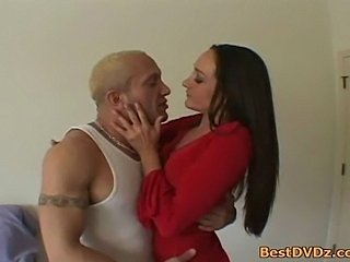Big cock in brunettes mouth and ass. Hot brunette girlmakes perfect blowjob and rides on strong cock to getscreampie.