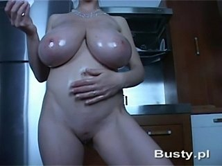 Girl with big tits playing solo with dildo  free
