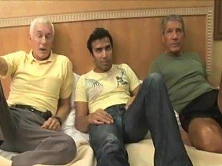 Three guys enjoy each other