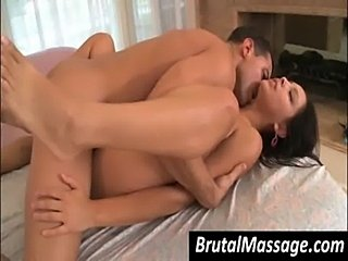 Cute chick massaged and nailed free