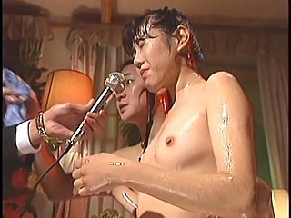 Young Japanese oiled hottie