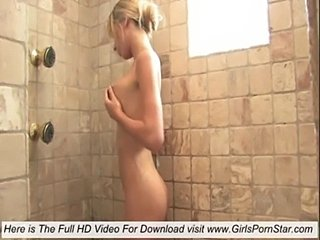 A sexy lady in heat take a shower to cool off  free