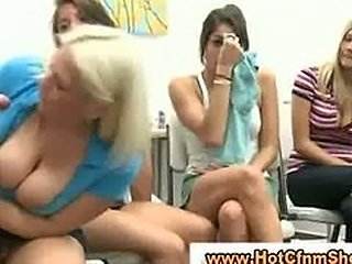 Cfnm babes suck guys cock un till he cums in reality groupsex