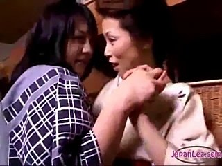 Asian Woman In Kimono Rapped Getting Her Pussy Licked And Fingered By Girl In...