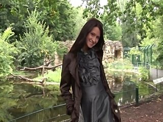 Beautiful Maria from Russia shows her Pussy open public